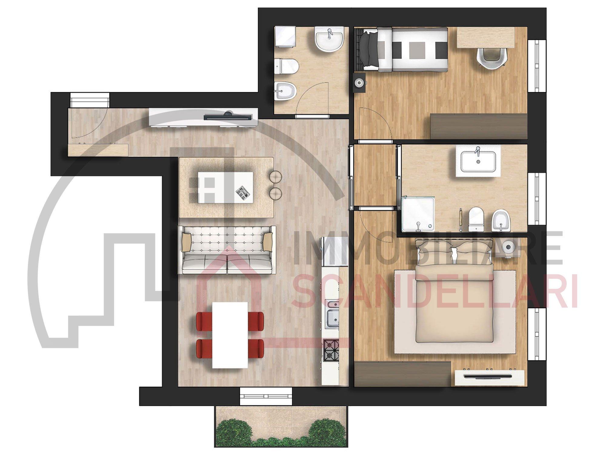 Rimini - San Giuliano - Appartamento ristrutturato in vendita - Immobiliare Scandellari